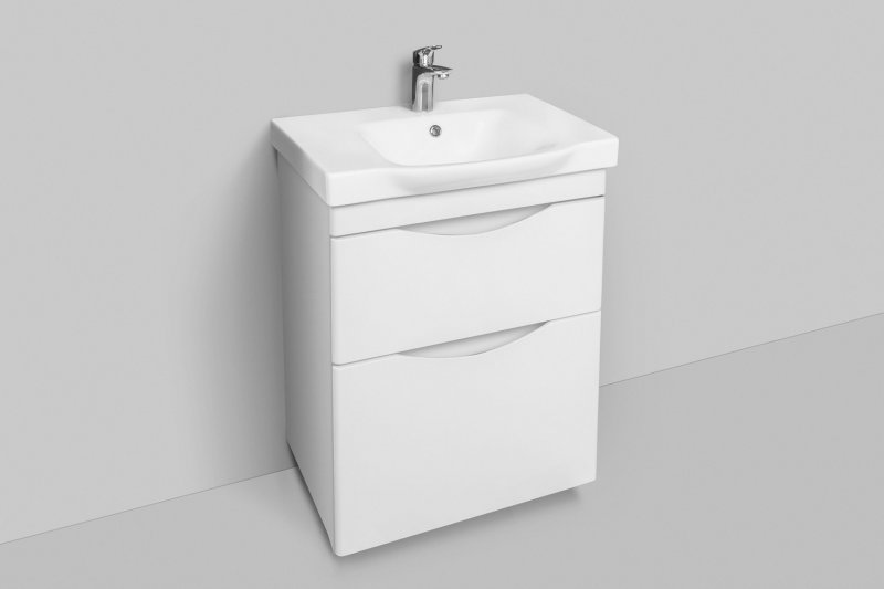 Am.Pm Мебель для ванной Like 65 R, напольная, белый глянец