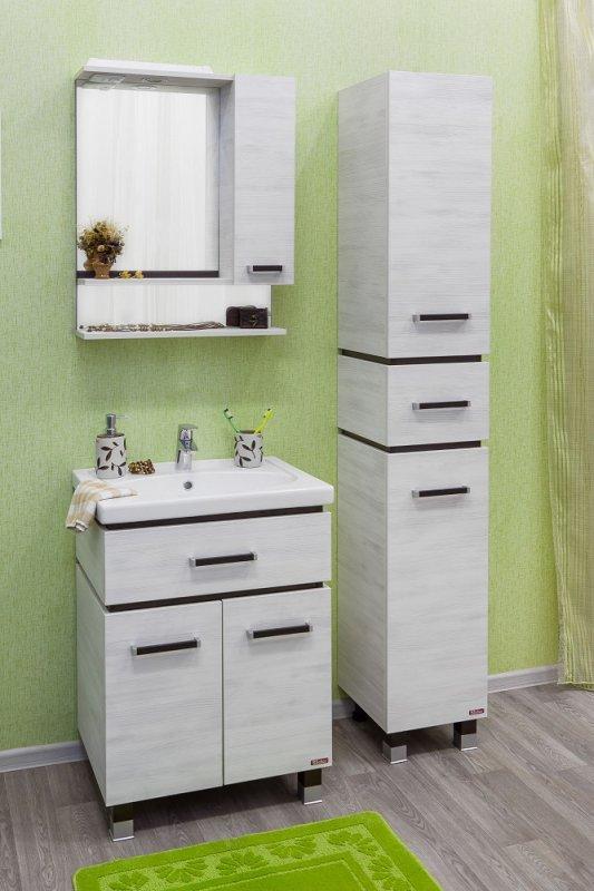 Sanflor Мебель для ванной Техас 60 венге, северное дерево светлое R