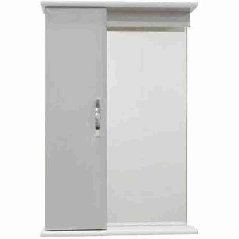 Водолей Мебель для ванной Классик 55 белая, зеркало-шкаф с подсветкой