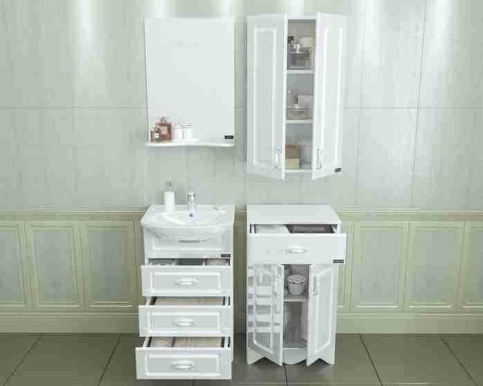 СанТа Мебель для ванной Верона 50, ящики
