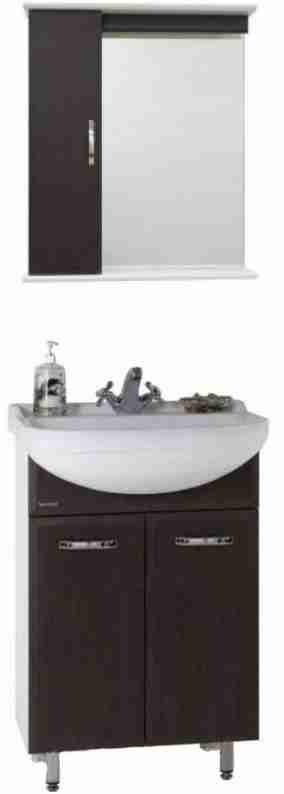 Водолей Мебель для ванной Классик 60 венге, зеркало-шкаф