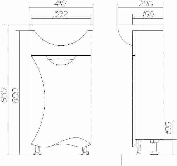 Vigo Мебель для ванной Callao 40