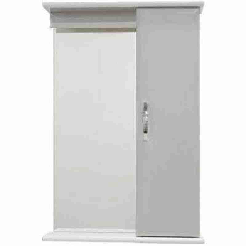 Водолей Мебель для ванной Классик 60 R белая, зеркало-шкаф с подсветкой