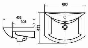 СанТа Мебель для ванной Грация Волна 60 R