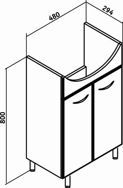 Runo Мебель для ванной Уют 50 Ксения