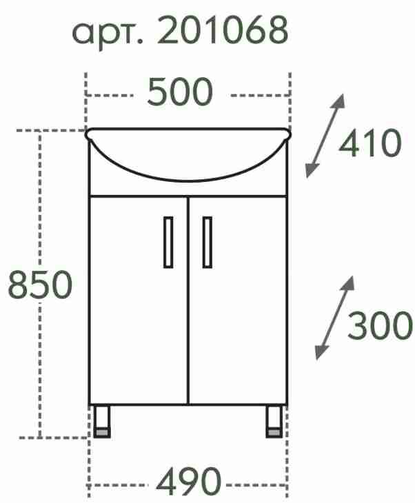 СанТа Мебель для ванной Сити Ника 50 L свет