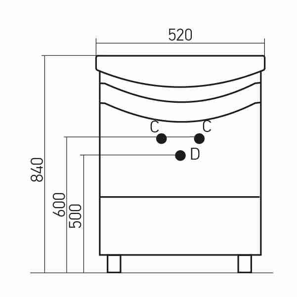 Mixline Мебель для ванной Радуга 52 зеленая