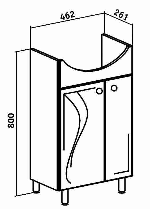 Runo Мебель для ванной Классик 50 Ксения