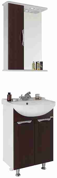 Водолей Мебель для ванной Лира 55 L венге
