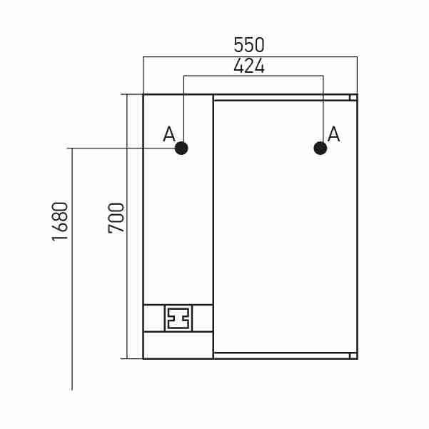 Mixline Мебель для ванной Квадро 55