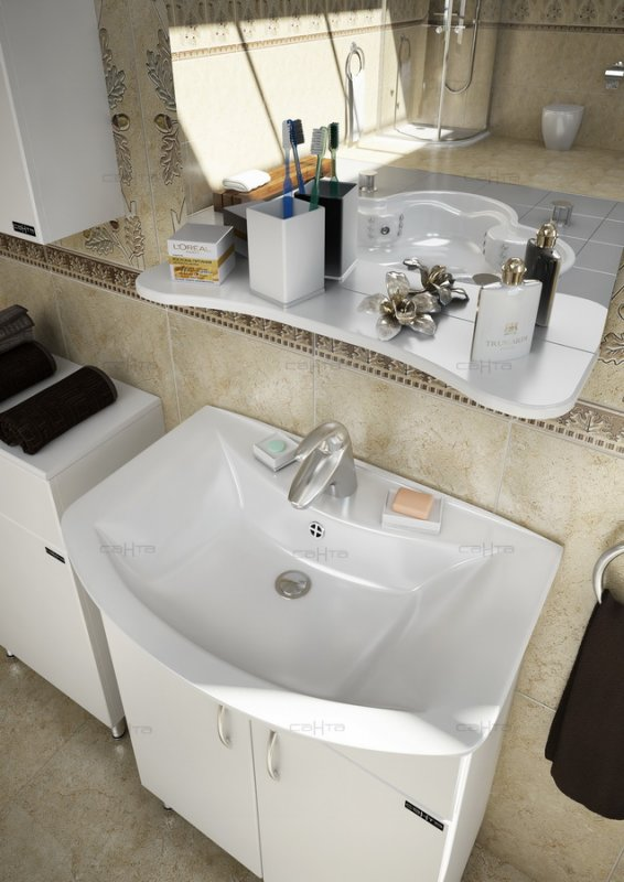 СанТа Мебель для ванной Грация Прима 60 L свет