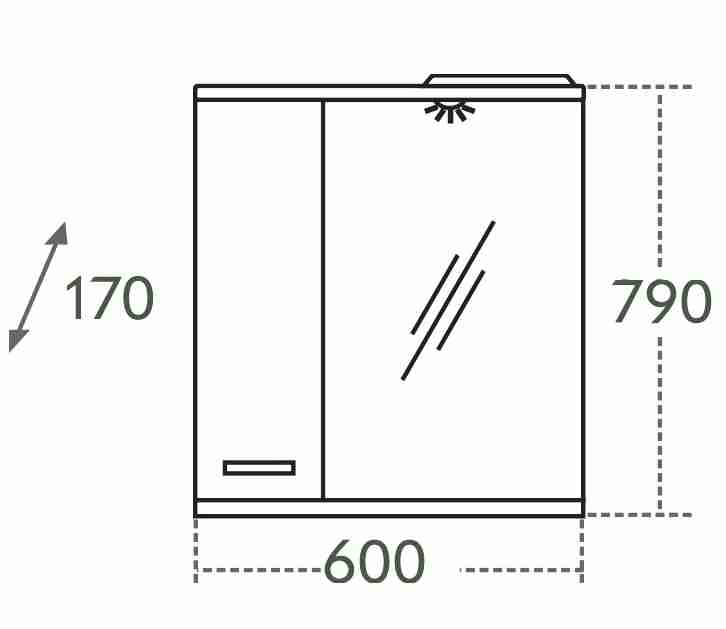 СанТа Мебель для ванной Сити Прима 60 L свет