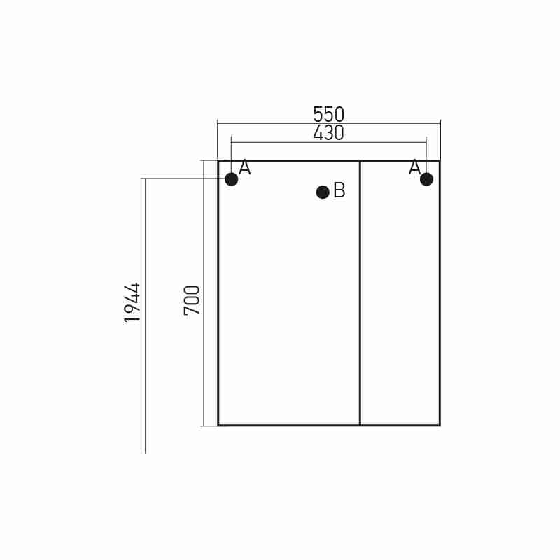 Mixline Мебель для ванной Посейдон 55 L белая