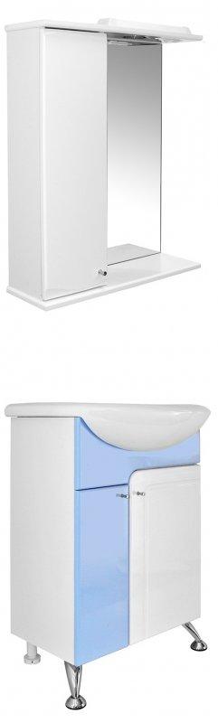 Mixline Мебель для ванной Посейдон 55 L голубая