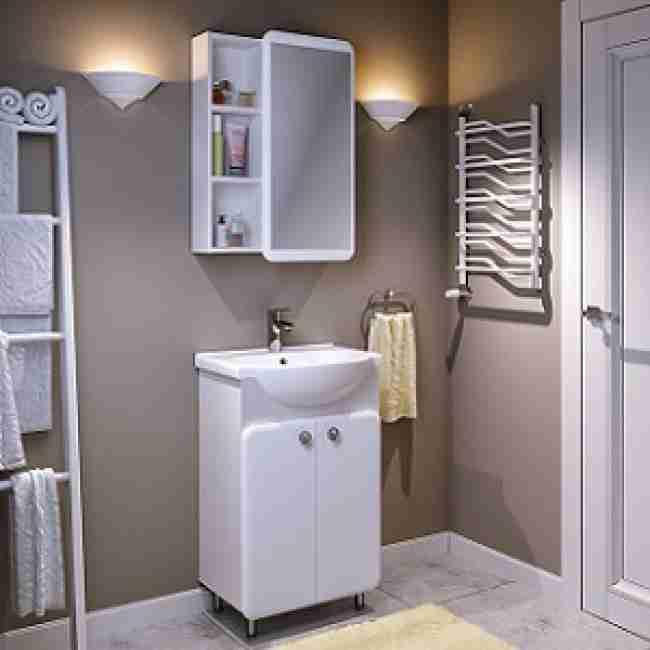 Runo Мебель для ванной Капри 55 белая