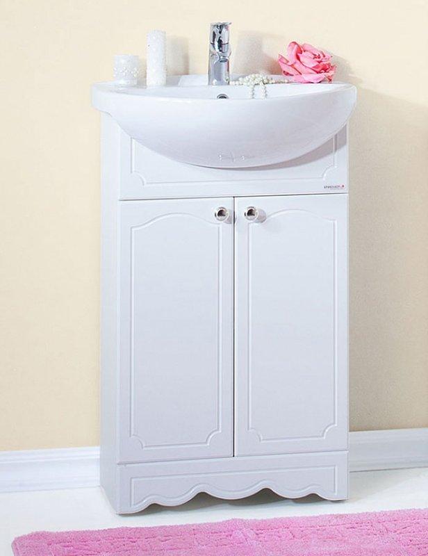 Бриклаер Мебель для ванной Лючия 55 белая