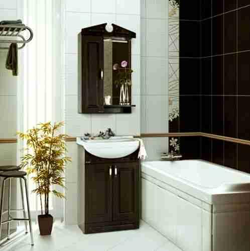 Водолей Мебель для ванной Капри 55 L венге