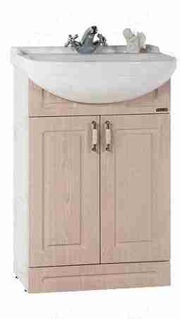 Водолей Мебель для ванной Капри 55 L дуб