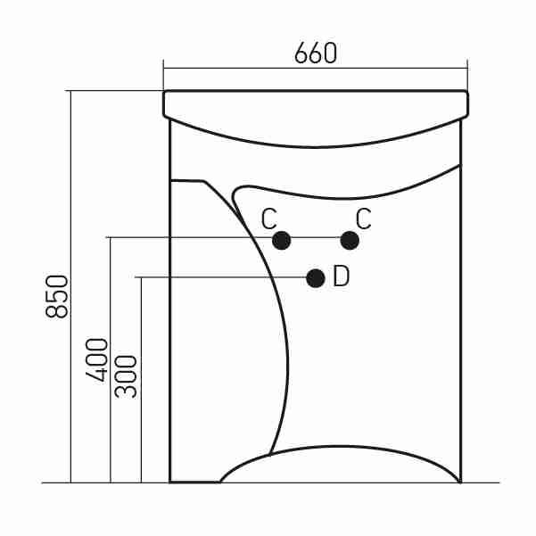 Mixline Мебель для ванной Глори 65 L