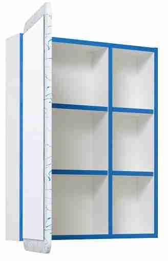 Runo Мебель для ванной Капри 55 синяя