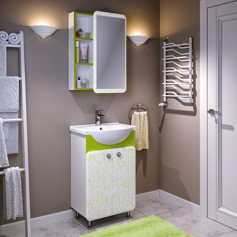 Runo Мебель для ванной Капри 55 салатовая