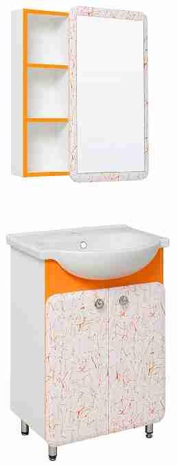 Runo Мебель для ванной Капри 55 оранжевая