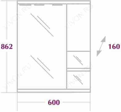 Onika Мебель для ванной Элита 60.13 белая R