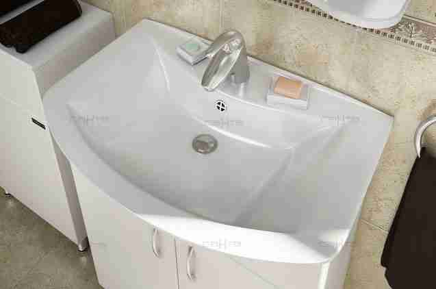 СанТа Мебель для ванной Грация Волна 60 R свет, с ящиками