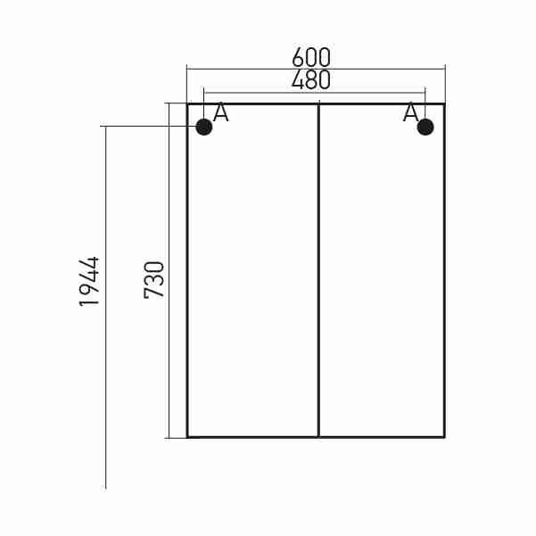 Mixline Мебель для ванной Мираж 2 60 L