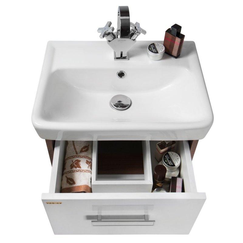 Водолей Мебель для ванной Мона 50 R с ящиками белая