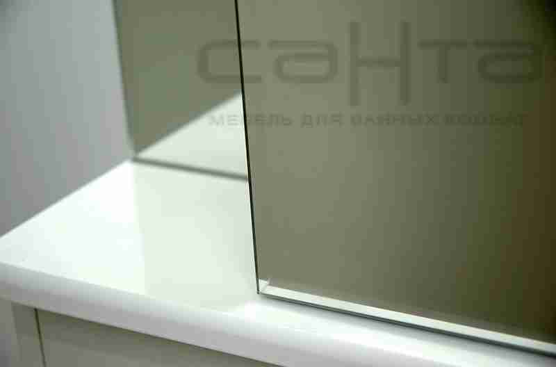 СанТа Мебель для ванной Уют Герда 55 с ящиками, голубая