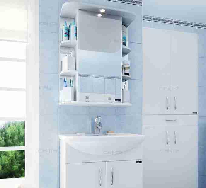 СанТа Мебель для ванной Сити Герда 60 свет с ящиками