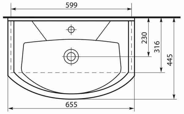 СанТа Мебель для ванной Элеганс Лира 65 свет, с ящиками