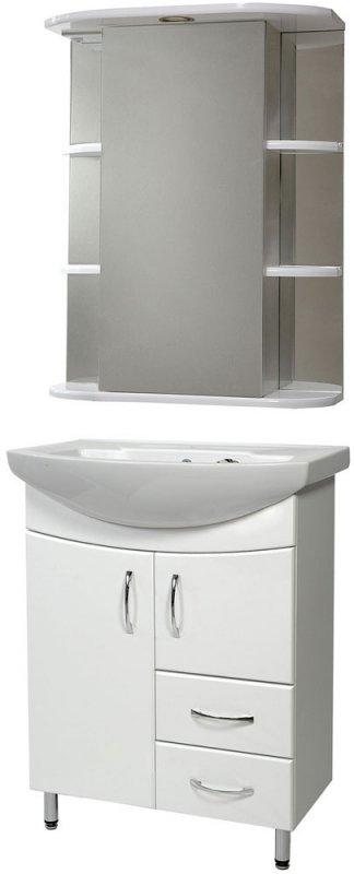 СанТа Мебель для ванной Элеганс Герда 65 свет, с ящиками
