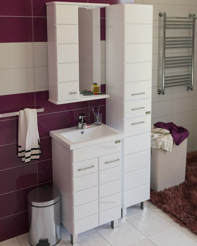СанТа Мебель для ванной Омега 50 L напольная