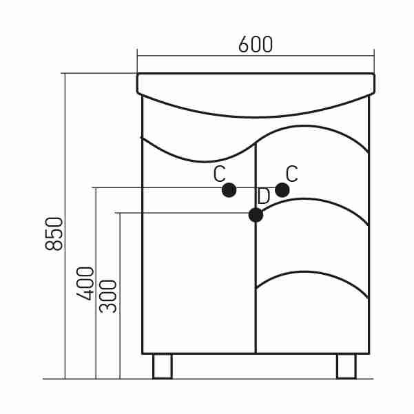 Mixline Мебель для ванной Магнолия 3 60 R