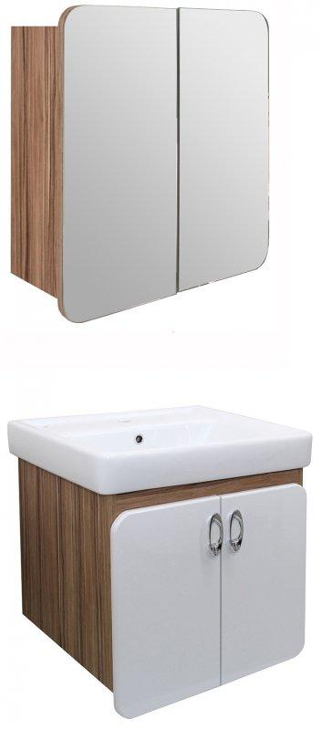 Mixline Мебель для ванной Того 60 эбони светлый