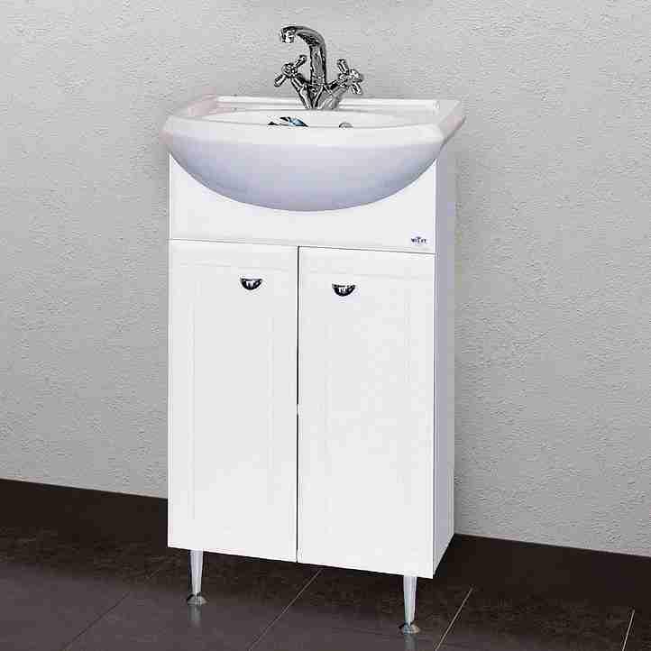 Misty Мебель для ванной Уют 50 R прямая белая