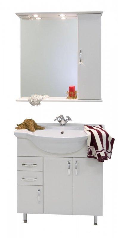 Водолей Мебель для ванной Колумбия 75 R белый