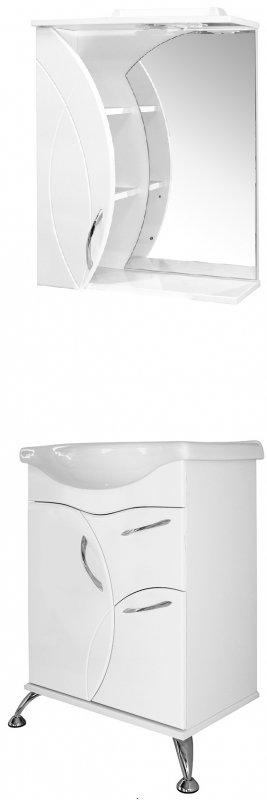 Mixline Мебель для ванной Магнолия 60 L белая