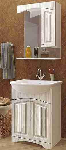 Mixline Мебель для ванной Крит 55 патина серебро