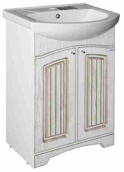 Mixline Мебель для ванной Крит 55 патина золото