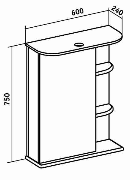 Runo Мебель для ванной Уют 60 ящик