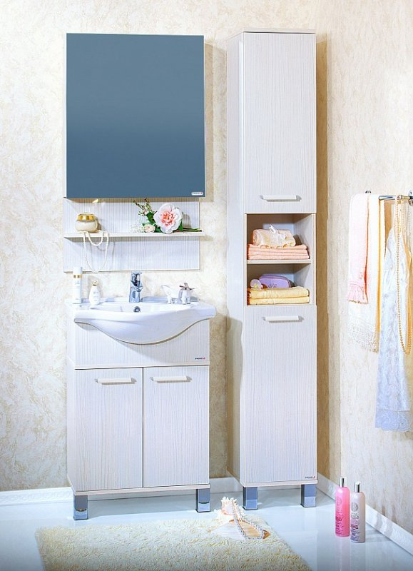 Бриклаер Мебель для ванной Карибы 60 светлая лиственница