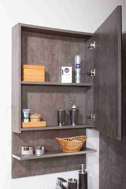 Бриклаер Мебель для ванной Карибы 60 дуб антик/сатин