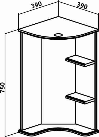 Runo Мебель для ванной Браво 40 угловая