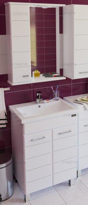 СанТа Мебель для ванной Омега 60 L дверцы