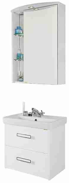 Водолей Мебель для ванной Мона 60 R с ящиками белая