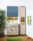 Бриклаер Мебель для ванной Карибы 75 дуб кантри/венге