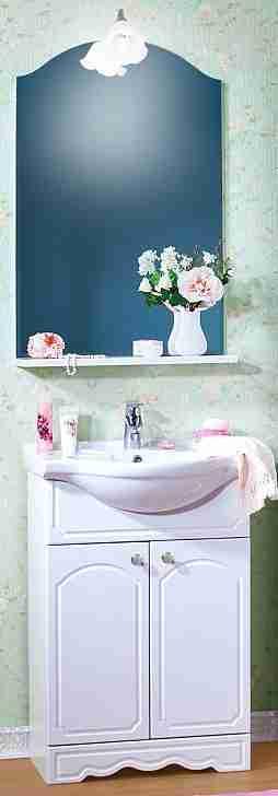 Бриклаер Мебель для ванной Лючия 60 белая